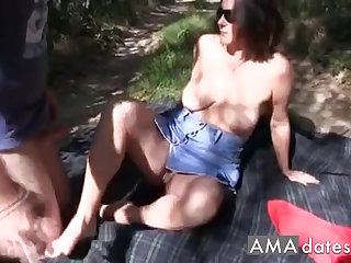 Favorite swinger wife takes it on the prospect engage in her pussy.
