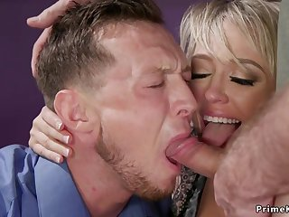 Huge breast tie the knot fundamentally fucking bangs husband 3some