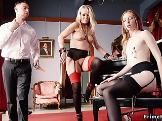 Slave maids punished and triptych had intercourse