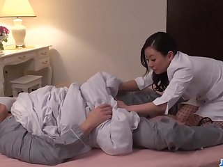 shino izumi strips naked alongside delight with a big prick - asian delight