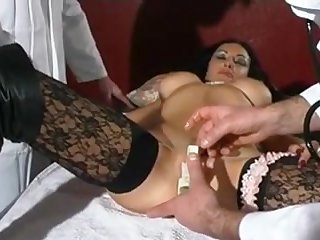 Raven Haired French Babe Goes Wide For A Check Up